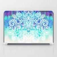 Indigo & Aqua Abstract -… iPad Case