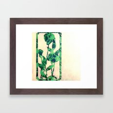 floral green Framed Art Print