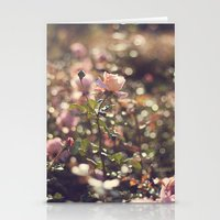 Dancing on magic (Vintage rose on bokeh background) Stationery Cards