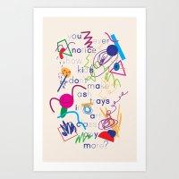 Haikuglyphics - A Brave … Art Print