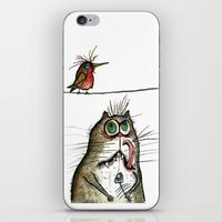 A Cat ponders, fish or poultry? iPhone & iPod Skin