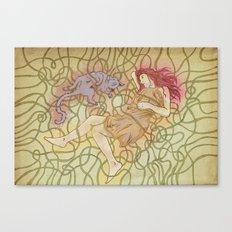 Fino & Lilu Canvas Print