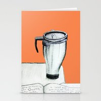 coffee Stationery Cards featuring Coffee  by Brontosaurus