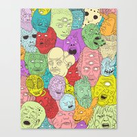 Faces of Math Canvas Print