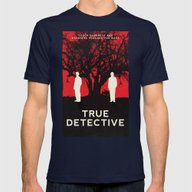 True Detective Mens Fitted Tee Navy SMALL