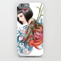 iPhone & iPod Case featuring KIMONO by TOXIC RETRO