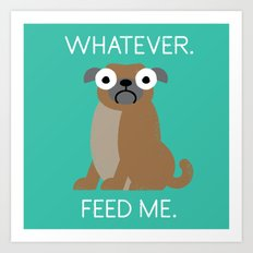 The Pugly Truth Art Print