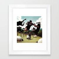 Kiwiana Framed Art Print