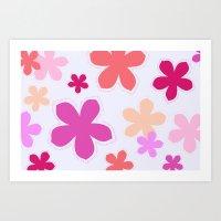 Anohana Flowers Art Print