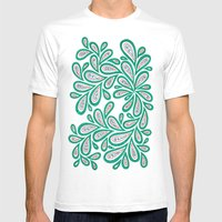Swirl Drop Mens Fitted Tee White SMALL