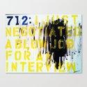 Texting 712 : Canvas Print