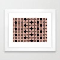 old pink circles Framed Art Print