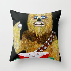 BEER PONG WOOKIE Throw Pillow