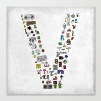 Letter V - Nintendo Clas… Canvas Print