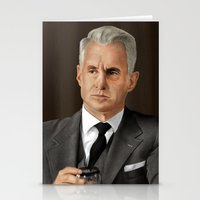 mad men Stationery Cards featuring Roger Sterling (Mad Men) by San Fernandez