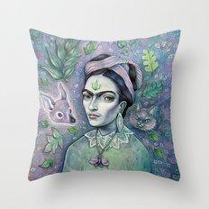 Magical Girl Frida Throw Pillow