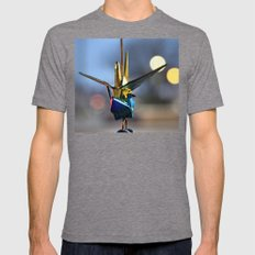 Crane Luck Mens Fitted Tee Tri-Grey SMALL