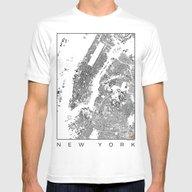 T-shirt featuring New York Schwarzplan by City Map Art