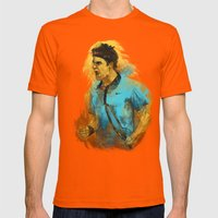Roger Federer Mens Fitted Tee Orange SMALL