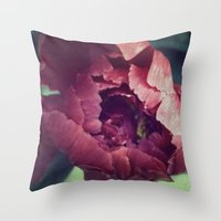 Peony Red flower Throw Pillow