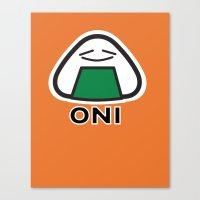 Oni the Onigiri, Kawaii Canvas Print