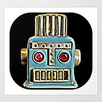 robot Art Prints featuring Robot by Silvio Ledbetter