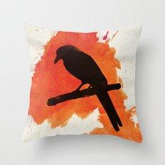 Dark Wings, Dark Words Throw Pillow