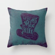 Throw Pillow featuring Alice In Wonderland by Drew Wallace