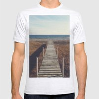 Suttons Bay, Michigan Mens Fitted Tee Ash Grey SMALL