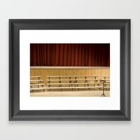 Empty Stage Framed Art Print