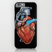 iPhone Cases featuring Heart Grenade by carbine