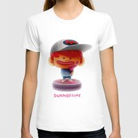 Summertime Womens Fitted Tee White SMALL