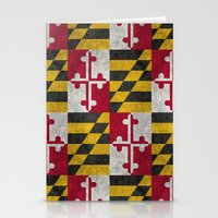State flag of Flag of Maryland - Vintage retro style Stationery Cards