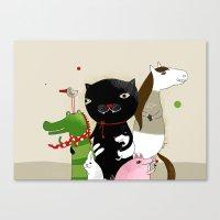 United Animals Canvas Print