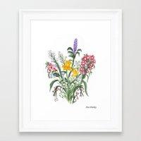 Spring Bouquet By Ave Hu… Framed Art Print