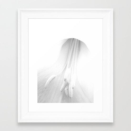 untitled white Framed Art Print