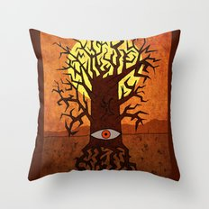All-seeing tree Throw Pillow