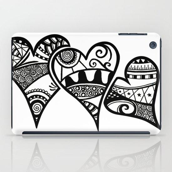 Three Hearts iPad Case