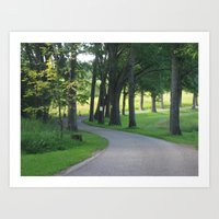wandering path Art Print