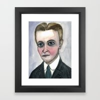 This Side of Fitzgerald, F. Scott Fitzgerald Literary Portrait Framed Art Print