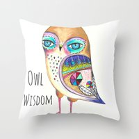 Owl Wisdom Throw Pillow