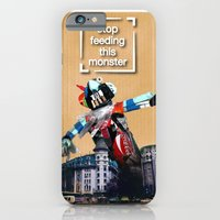 iPhone & iPod Case featuring garbage monster by Andra Vlasceanu