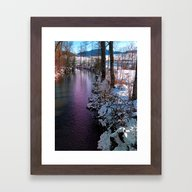 Quiet River In Winter Ti… Framed Art Print