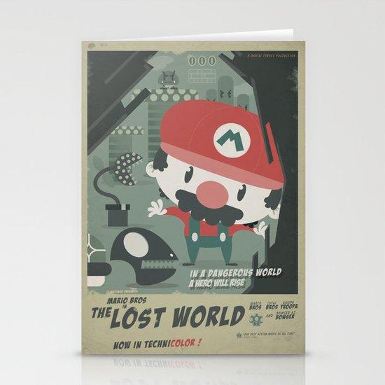 mario bros 4 fan art Stationery Card