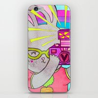 Bunny Rainbow Snapshots iPhone & iPod Skin