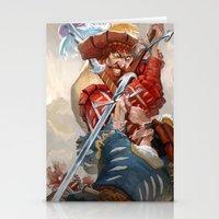 Landsknecht fight Stationery Cards