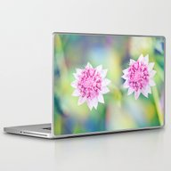 Pink Flower Power Laptop & iPad Skin