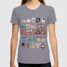 P is for Pixar (Pixar Alphabet) Womens Fitted Tee Slate SMALL