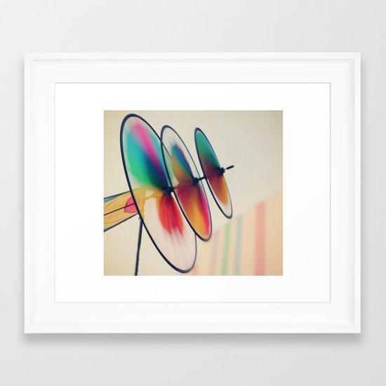 Spin, spin, spin Framed Art Print