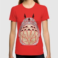 Totoro Womens Fitted Tee Red SMALL